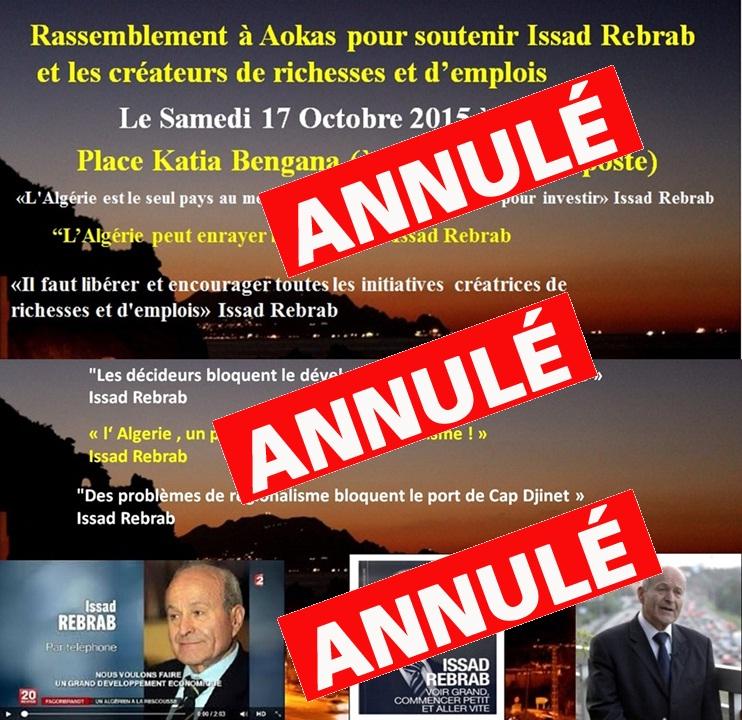 Rassemblement à Aokas pour soutenir Issad Rebrab et les créateurs de richesses et d'emplois le Samedi 17 Octobre 2015  20012