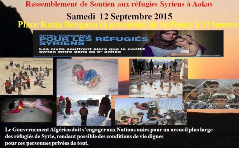 Rassemblement de Soutien aux réfugies Syriens à Aokas Samedi  12 Septembre 2015  2010