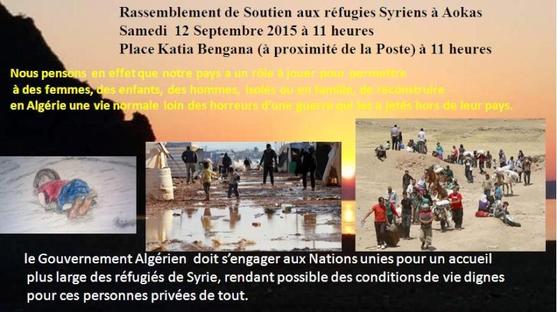 Rassemblement de Soutien aux réfugies Syriens à Aokas Samedi  12 Septembre 2015  3010