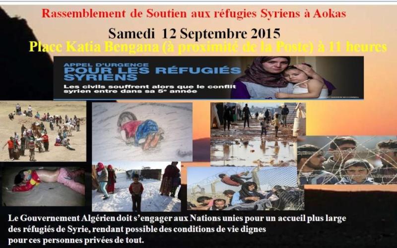 Rassemblement de Soutien aux réfugies Syriens à Aokas Samedi  12 Septembre 2015  Syrie12
