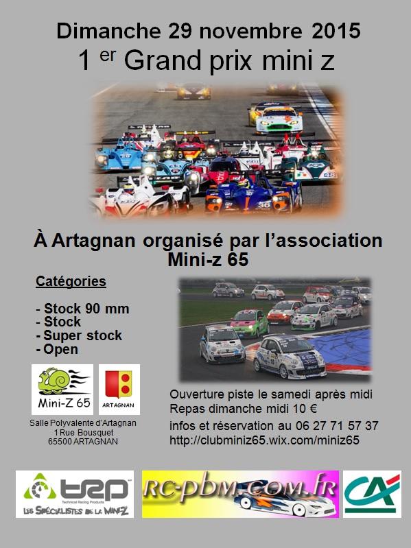 1er Grand Prix Mini-Z 65  Affich12
