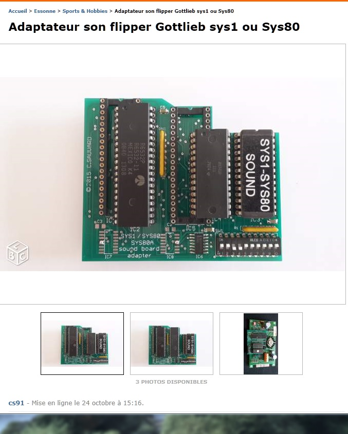 Adaptateur carte son sys1 et Sys80 Adapta10