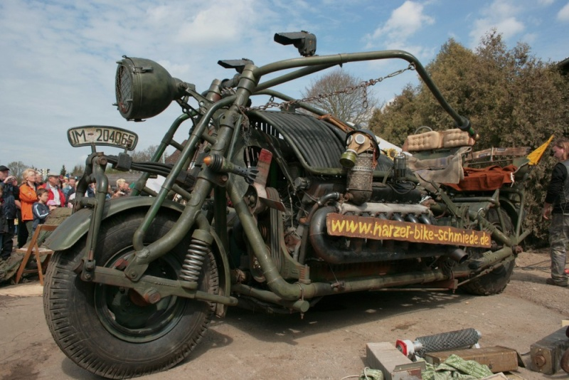 Custom Culture : bikers qui manifestent pour leurs accessoires personnalisés  Panzer10