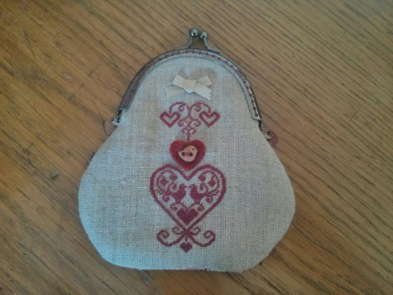 Couture /Porte-monnaie avec fermoir à l'ancienne  Pm10
