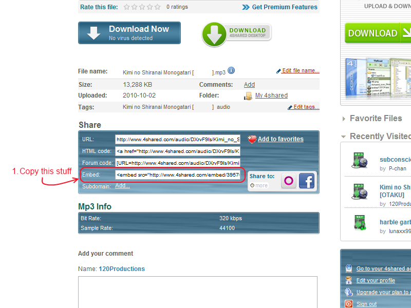 [forum tutorial]  How to embed 4shared stuff in your posts Copy_t10