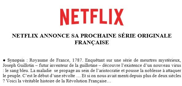 La révolution Francaise...version fantastique ( netflix) 20181110