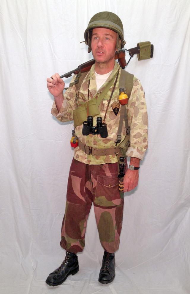 """Sergent-Chef du 8ème BPC, chef de section à l'opération """"Brochet"""" (octobre 1953) Ok41010"""