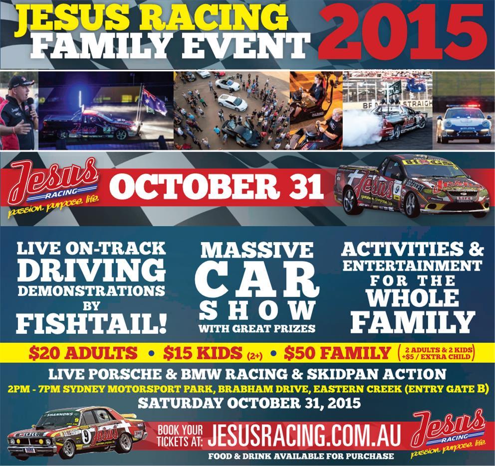 Jesus Racing Family Event, Sydney Motorsport Park - Saturday 31 Oct 2015 Jesus_10