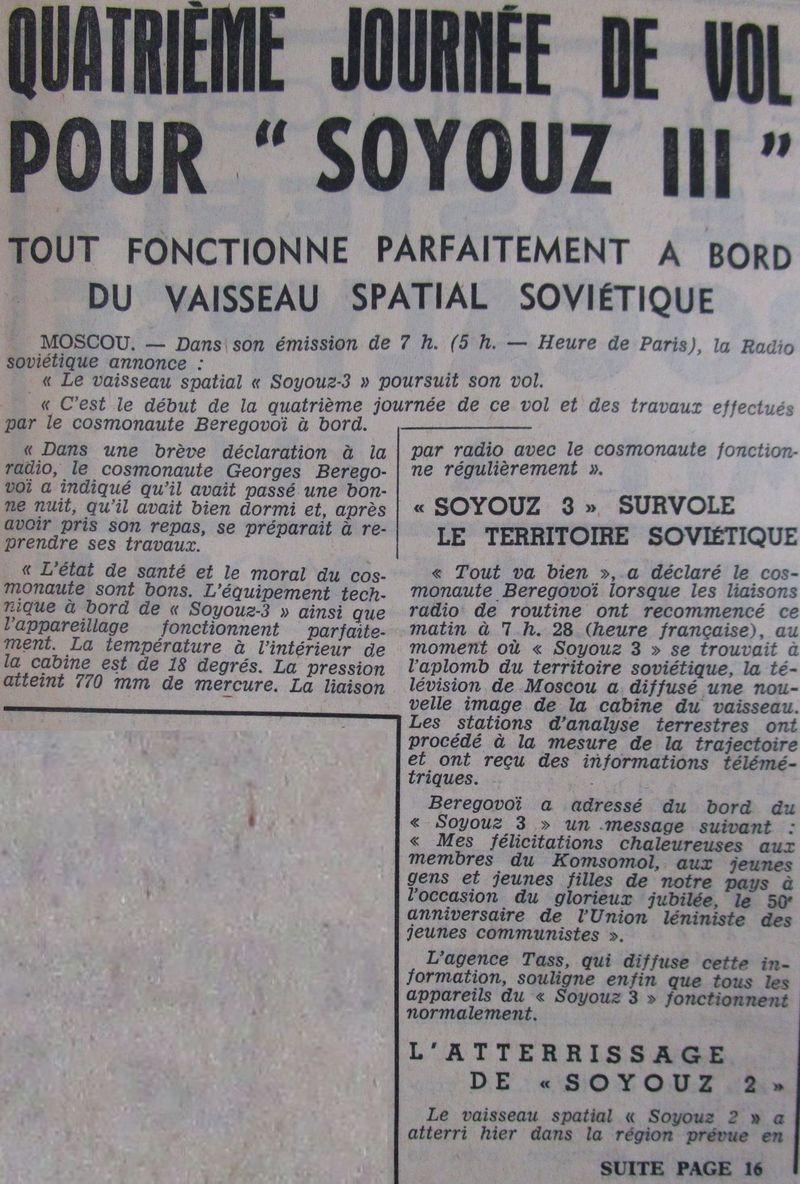 26 octobre 1968 - Soyouz 3 - Gheorghui Beregovoï 68103010