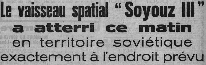 26 octobre 1968 - Soyouz 3 - Gheorghui Beregovoï 68103110