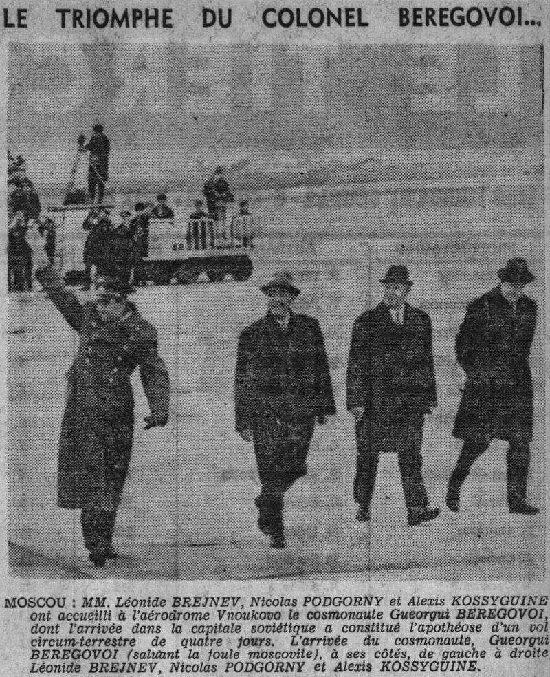 26 octobre 1968 - Soyouz 3 - Gheorghui Beregovoï 68110410