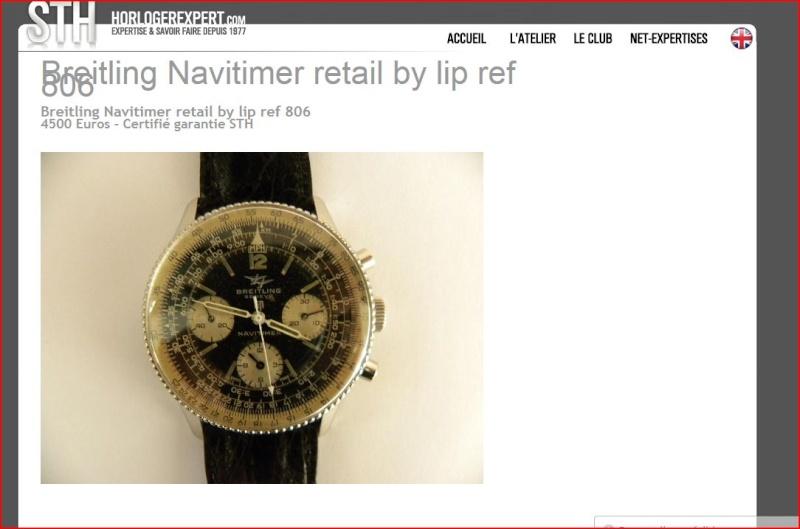 Breitling/Lip Navitimer type 806, la plus prisée et la plus chère des montres Lip actuellement et pour cause! Cote_b10
