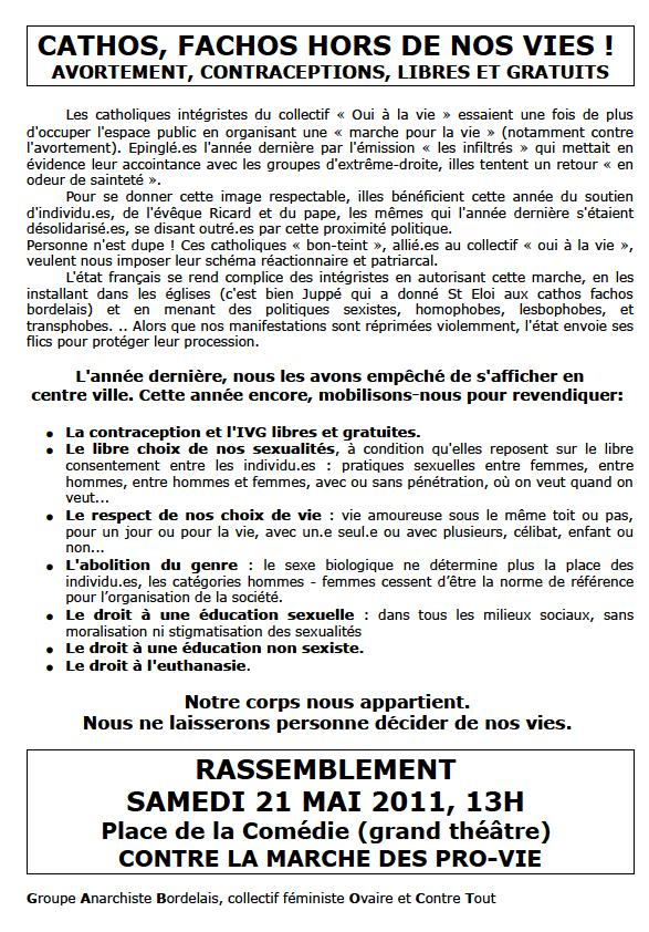 contre manif marche pour la vie à Bordeaux, 21 mai 2011 13h place de la comédie Tract_10