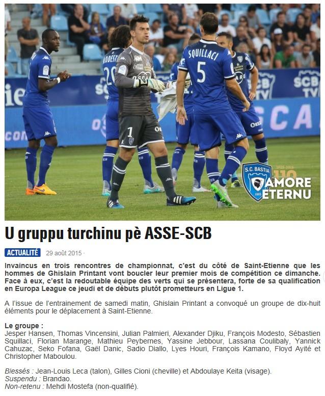 J4 / Jeu des pronos - Prono St Etienne-Bastia S10