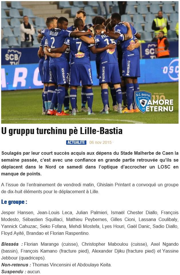 J13 / Jeu des pronos - Prono Lille-Bastia S106