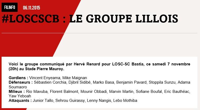 J13 / Jeu des pronos - Prono Lille-Bastia S109