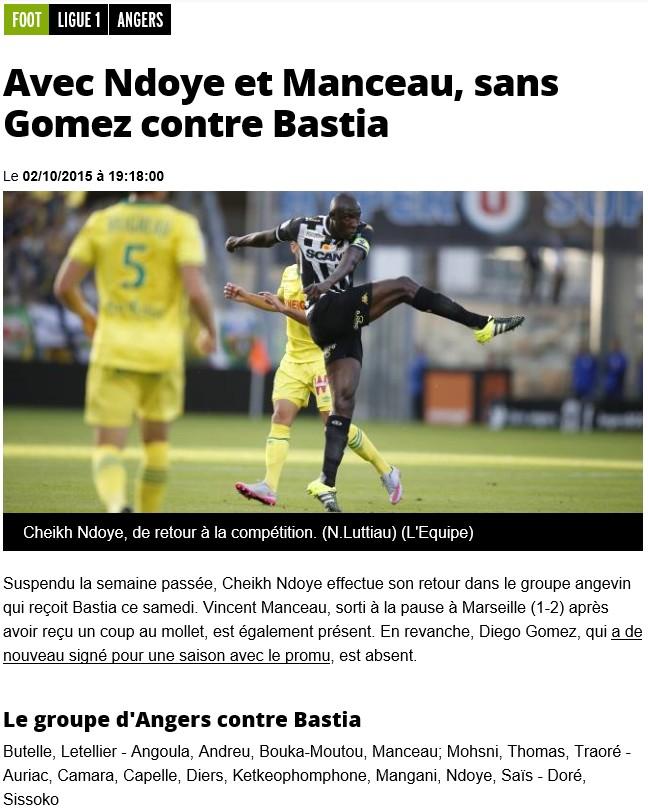 J9 / Jeu des pronos - Prono Angers-Bastia S57