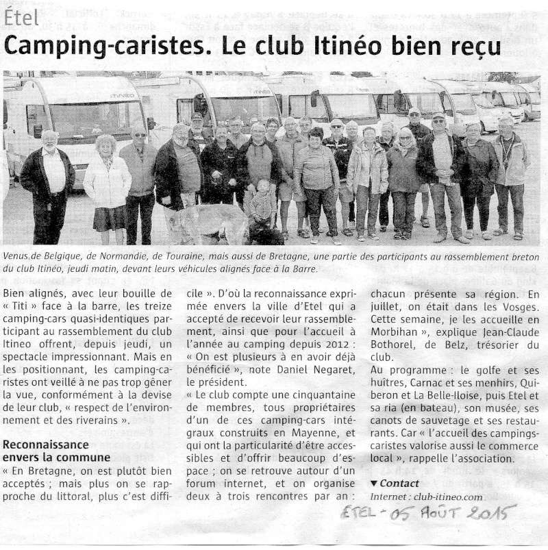 Le club distingué dans la presse Itinyo11