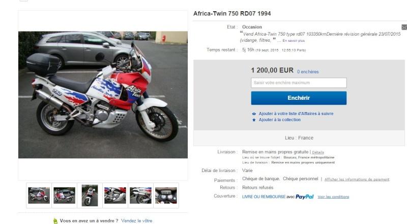vend Africa-Twin 750 RD07 de 1994 103000kml Captur10