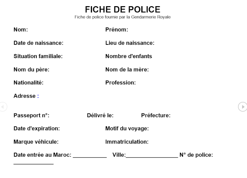 Fiches pour la police 2015-112