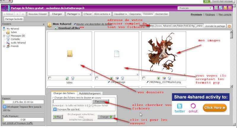 Comment créer et envoyer un fichier ou dossier sur le forum 4share10