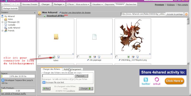 Comment créer et envoyer un fichier ou dossier sur le forum 4share11