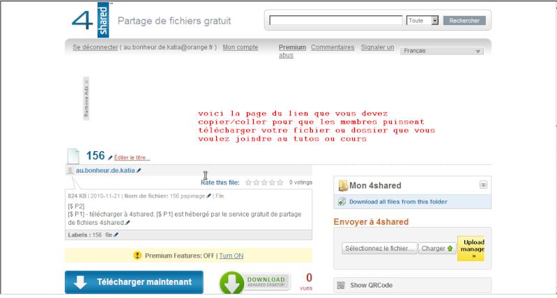 Comment créer et envoyer un fichier ou dossier sur le forum 4share12