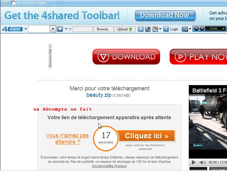 à savoir pour télécharger des fichier hébergés par 4Shared Talach20