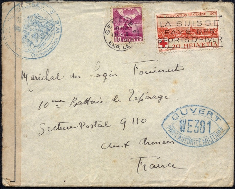 1940 Etiquette interdiction d'indiquer le secteur postal 1940_c10