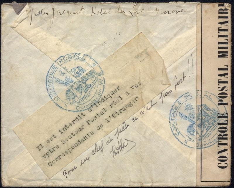 1940 Etiquette interdiction d'indiquer le secteur postal 1940_c11