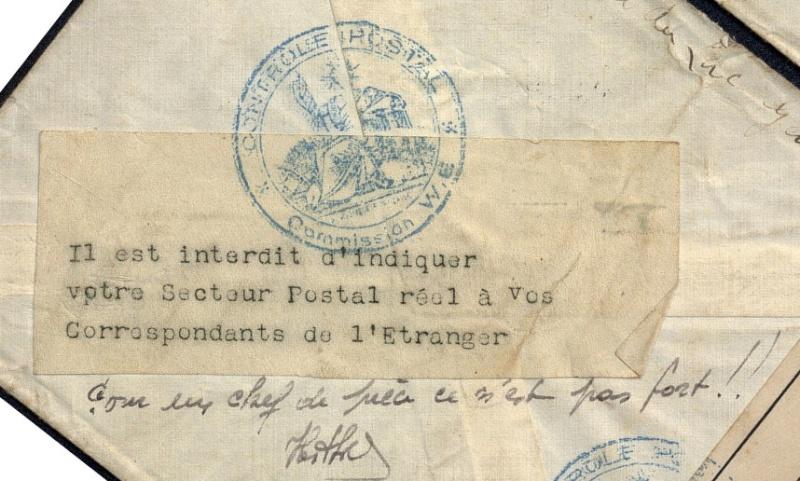 1940 Etiquette interdiction d'indiquer le secteur postal Etique10