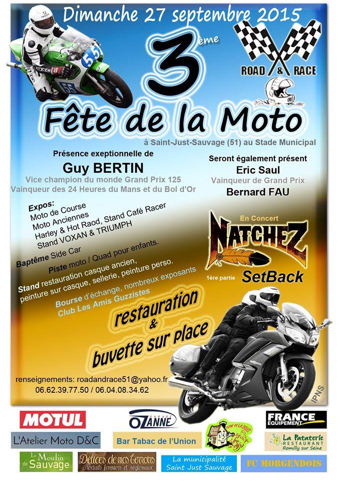 Fête de la moto Saint  51Just Sauvage 11402910