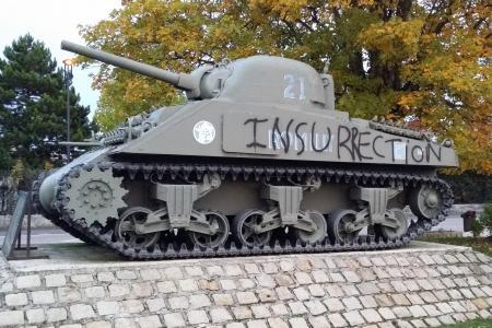 Le char Romilly a été vandalisé 20613610