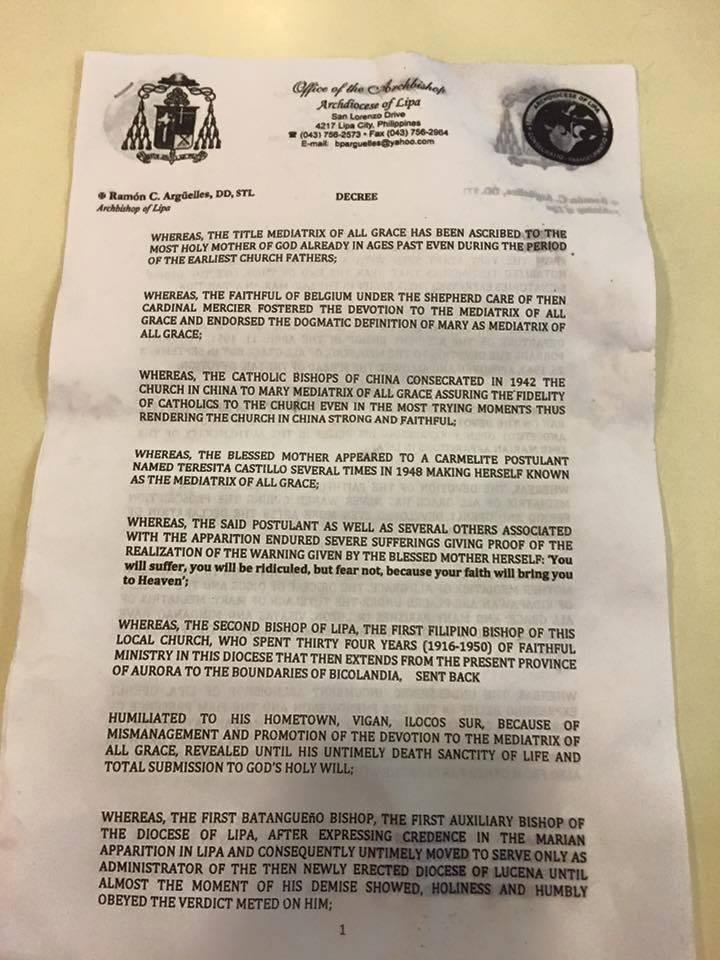LIPA apparition de Notre Dame officiellement déclaré Non-authentique (mise à jour) Lipa-110