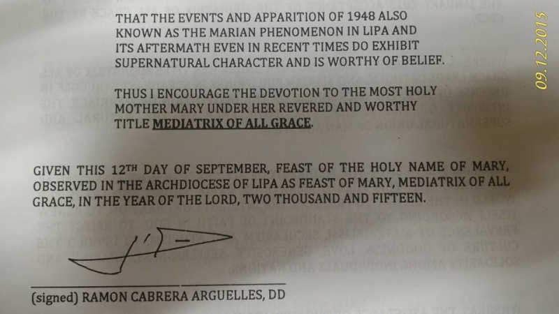 LIPA apparition de Notre Dame officiellement déclaré Non-authentique (mise à jour) Lipa-111