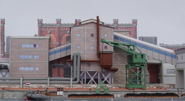 Industriediorama mit Hafen, 1:87 Dsc05322