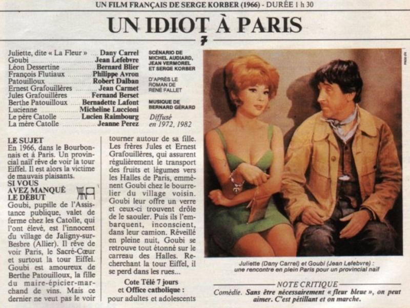 Un idiot à Paris. 1967. Serge Korber. 0510