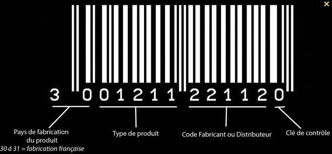 Voici comment dechiffrer et lire un code barre Code_b10