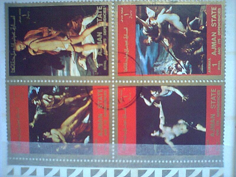 bloc feuillet  timbres  ART Umm al - Qiwain  Timbre13
