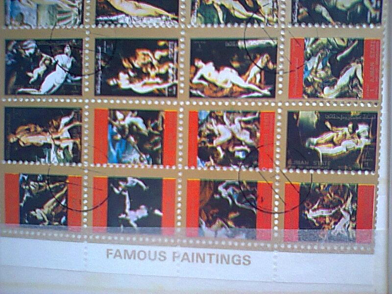 bloc feuillet  timbres  ART Umm al - Qiwain  Timbre15