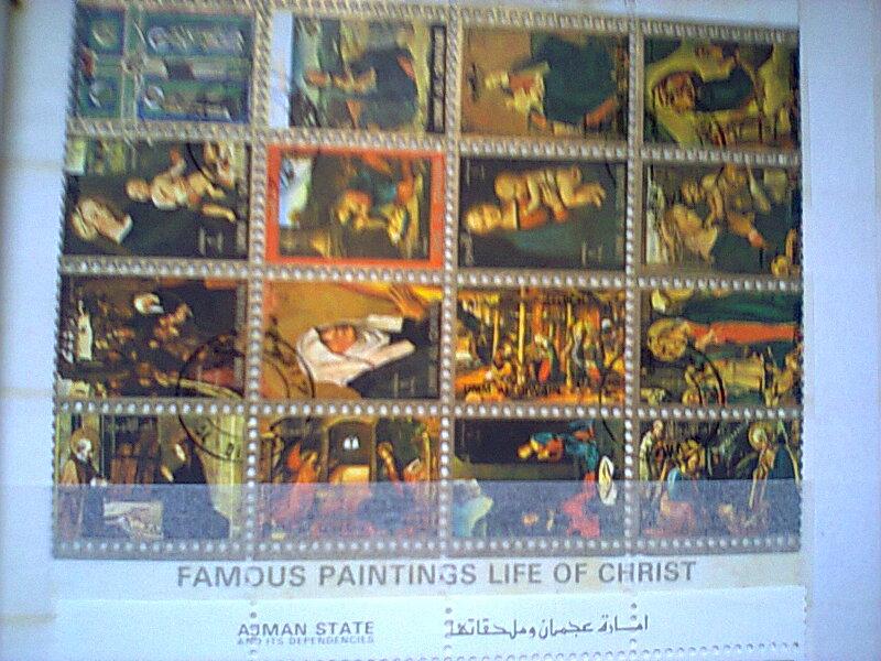 bloc feuillet  timbres  ART Umm al - Qiwain  Timbre18