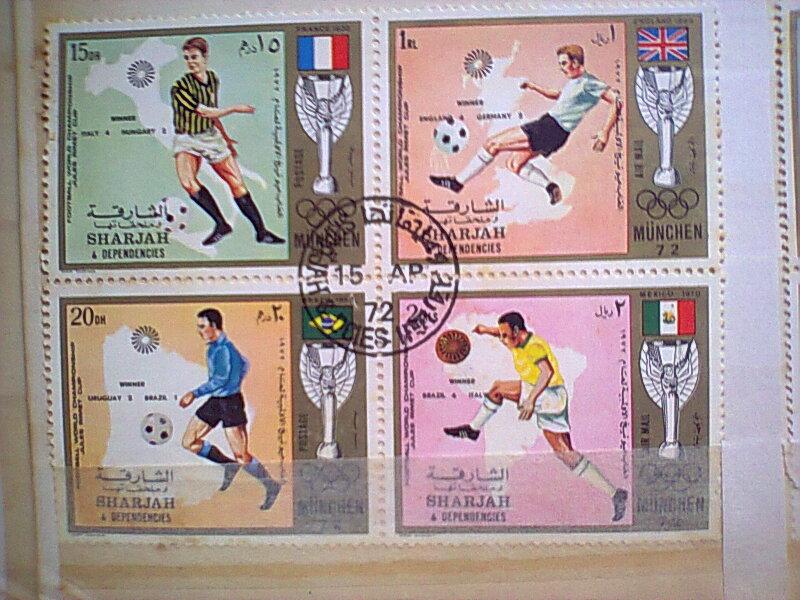 feuillet bloc de timbres SPORT acharqa 1972 Timbre20