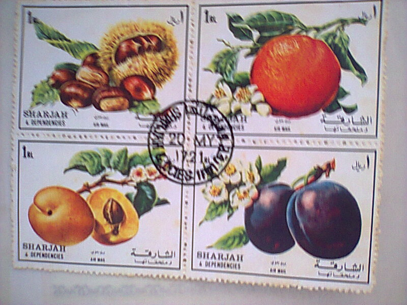 Bloc feuillet timbres collection fruits 1972 Timbre30