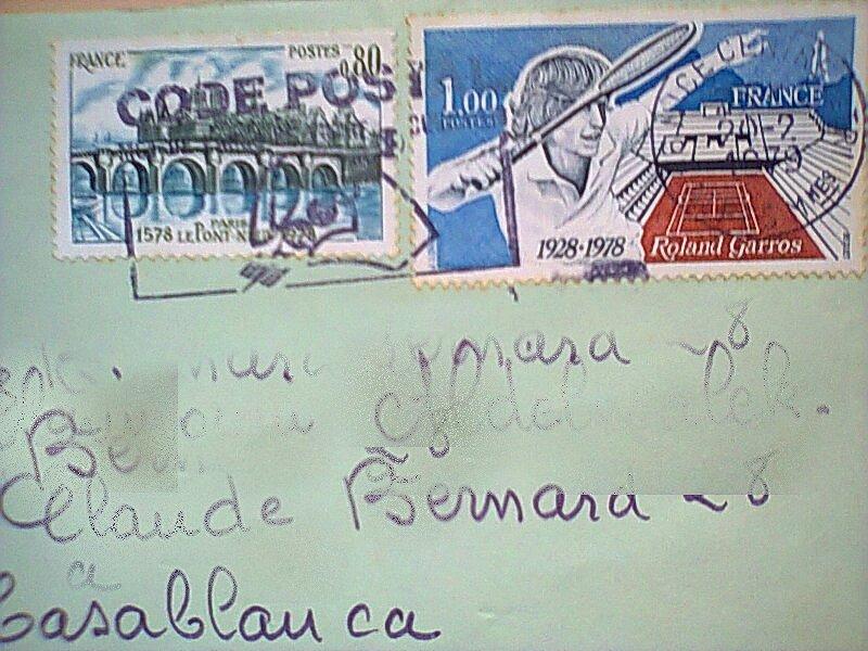 Timbres sur papier ou enveloppe datés Timbre36