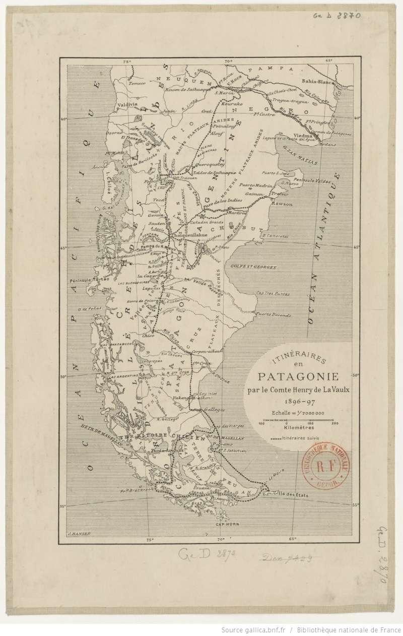 La Patagonie sur le site GALLICA de la BNF Btv1b811