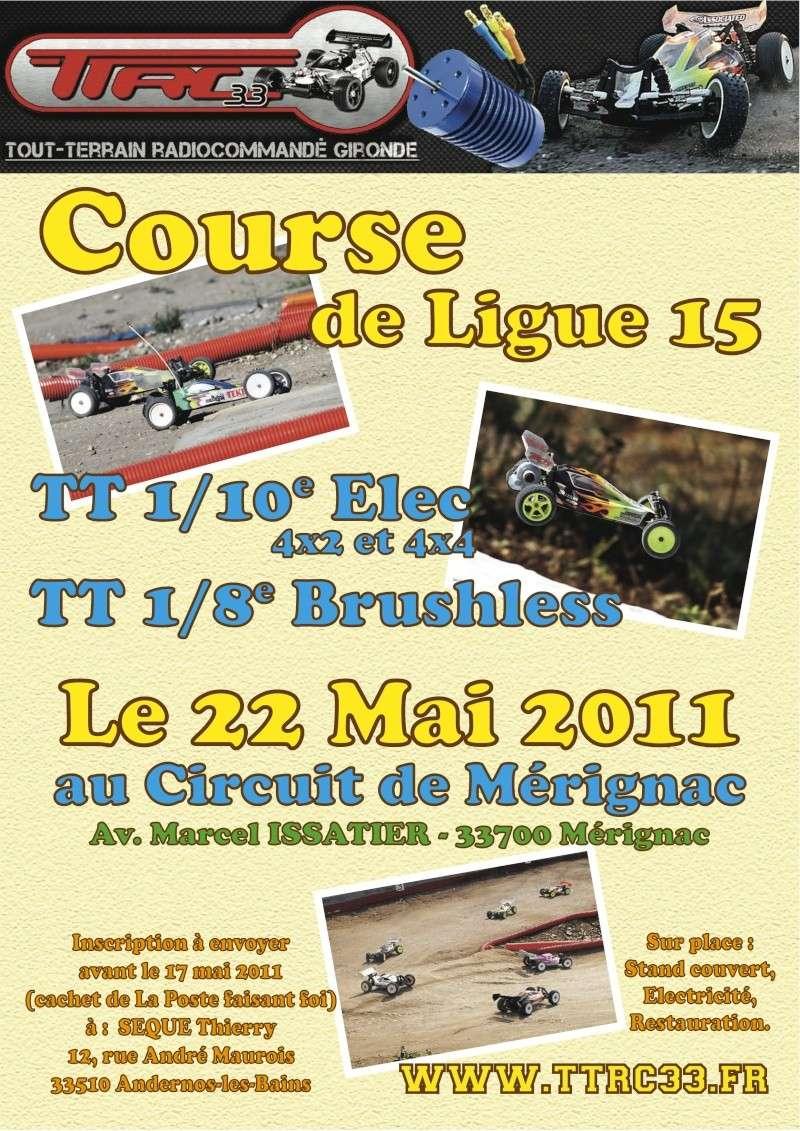 COURSE TT 1/10 - 1/8 BRUSHLESS au TTRC33  le 22 Mai  Affich11