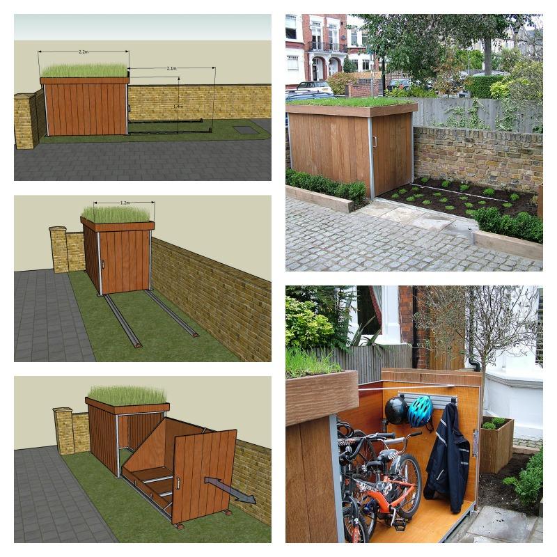 Garage à vélo Diy-bu10
