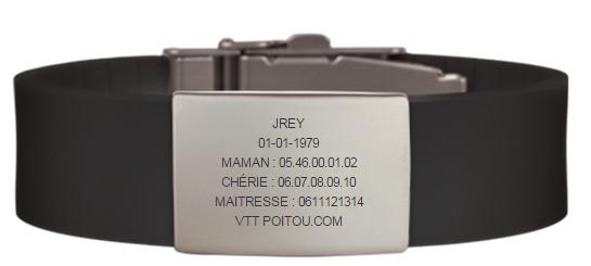 Road ID - bracelet d'identification Road110