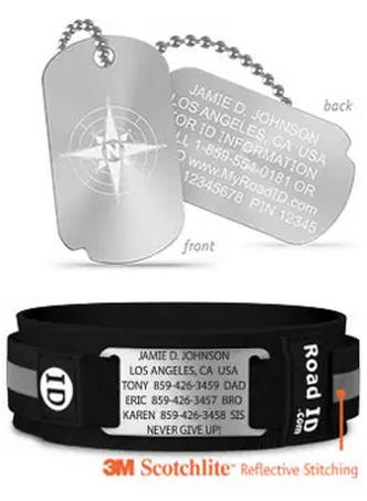 Road ID - bracelet d'identification Road310