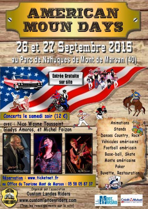 MANIFESTATION - 26 & 27 septembre 2015, AMERICAN MOUN DAY à Mont de Marsan (40) Americ12
